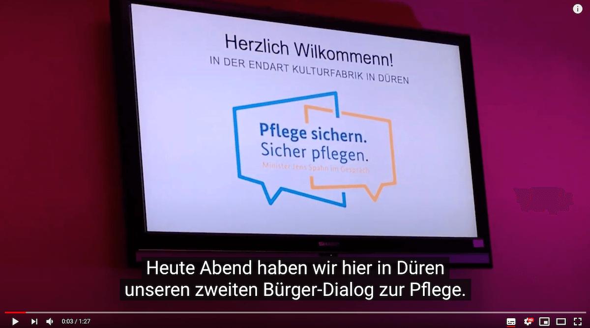 Screenshot Bürger-Dialog zur Pflege Düren