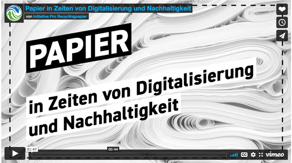 Video Thumbnail Papier in Zeiten von Digitalisierung